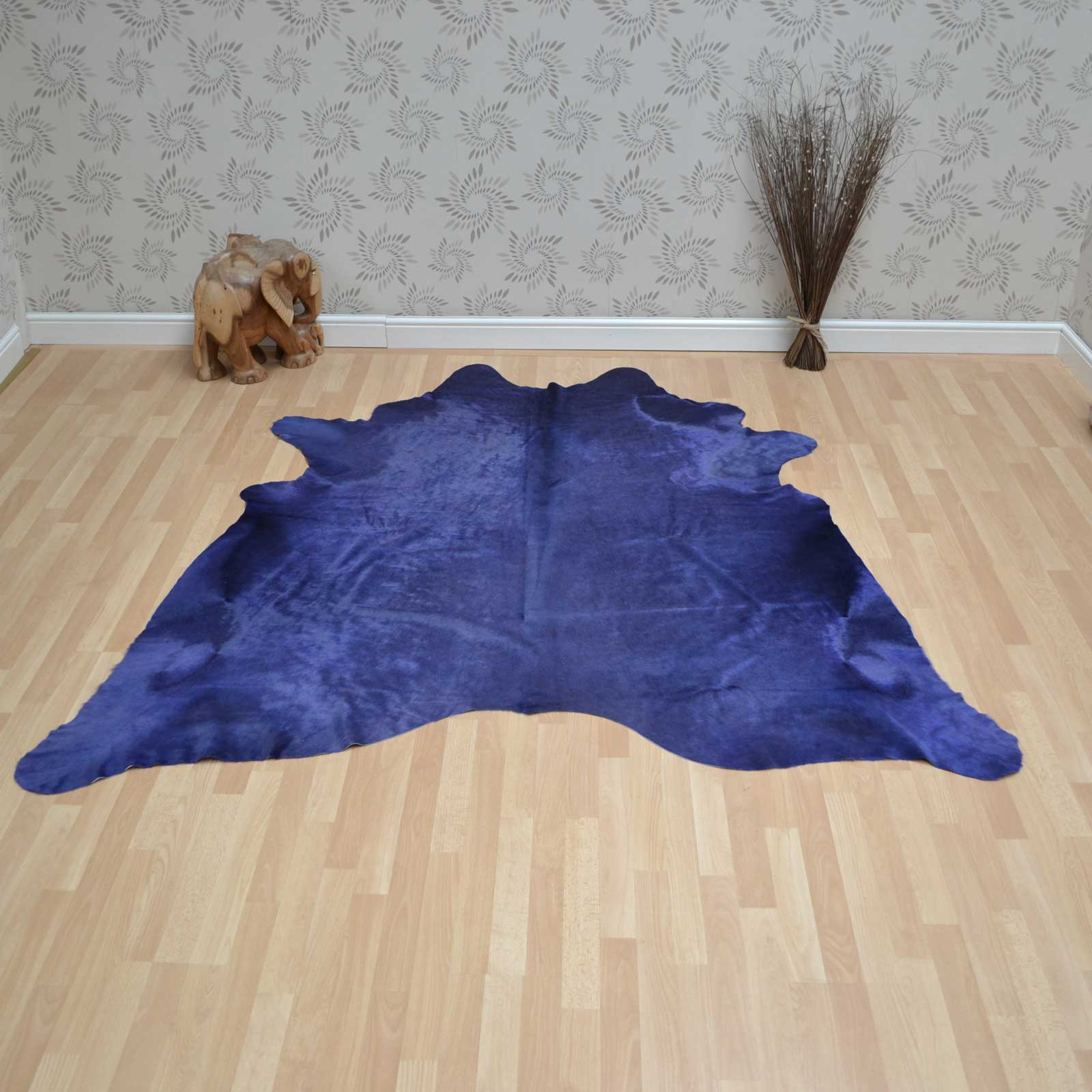Cowhide Rug in Plain Purple